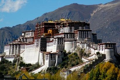 Potala Palace. Lhasa, Región Autónoma del Tíbet en China. También es conocido como el Templo de Lasha. Nombrado Patrimonio de la Humanidad, funciona como residencia de los Dalái Lama.